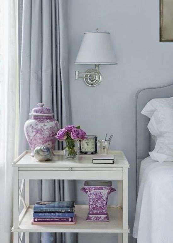 Idee per arredare la camera da letto con il color lavanda - Oggetti decorativi color lavanda