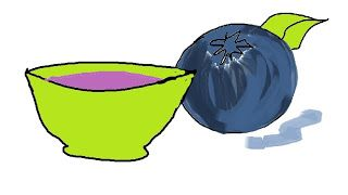 Blueberries & sour cream skin mask