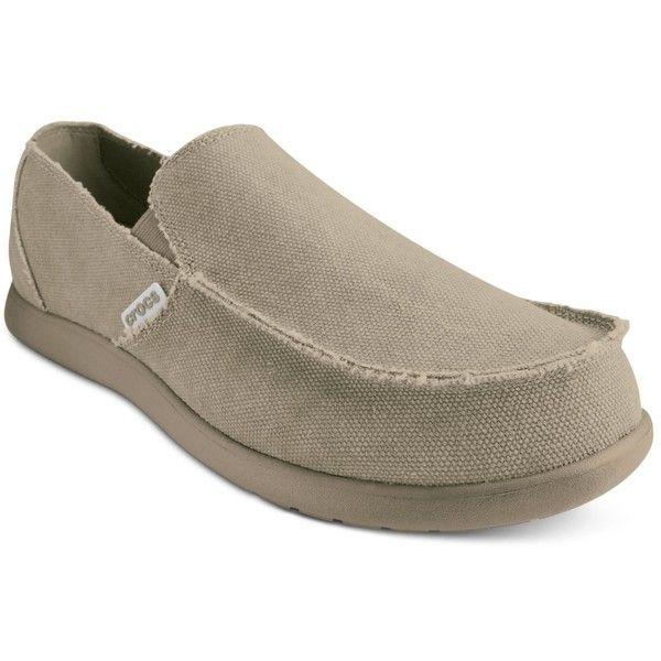 Crocs Men's Santa Cruz Loafers ($55) ❤ liked on Polyvore featuring men's fashion, men's shoes, men's loafers, crocs mens shoes, mens shoes, mens loafer shoes, mens crocodile shoes and mens loafers
