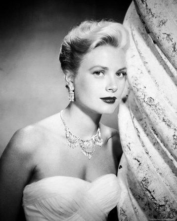 Close-up of Grace Kelly - styled by Edith Head.