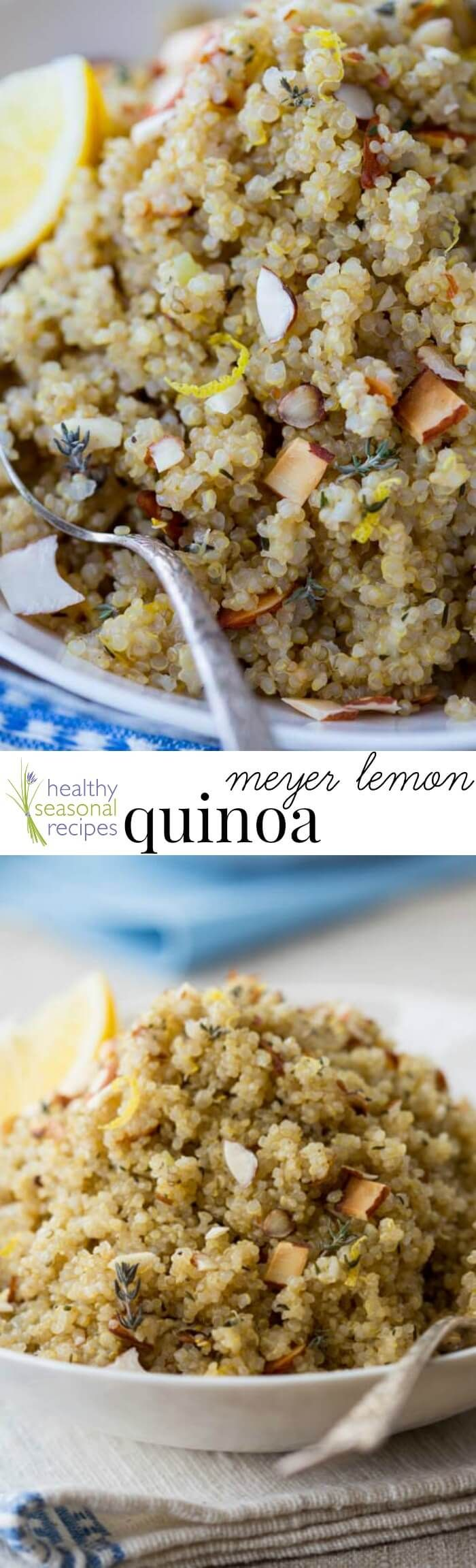 Easy Meyer lemon quinoa with coconut oil, shallot and thyme, with a touch of honey. An easy recipe to get on the stove (only 12 minutes of a[..]