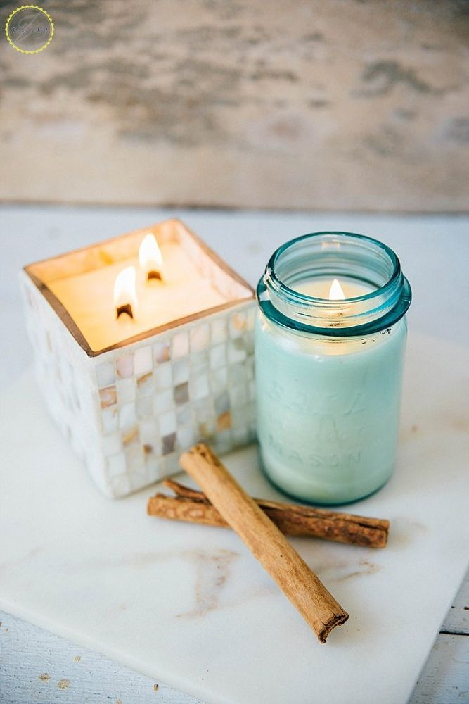 DIY Coconut Oil & Beeswax Scented Candle