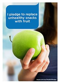 I pledge to replace unhealthy snacks with fruit @BupaAustralia