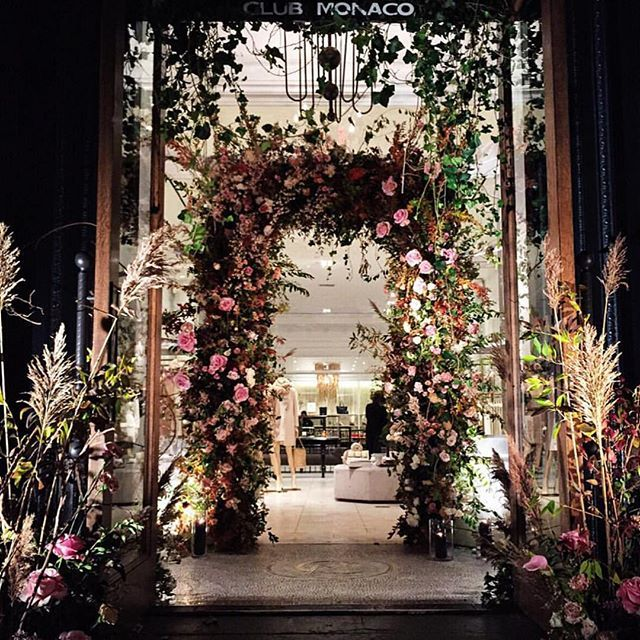 """CLUB MONACO,5th Avenue, New York, """"A great event entrance has the capacity to mesmerize,electrify captivate...."""", pinned by Ton van der Veer"""