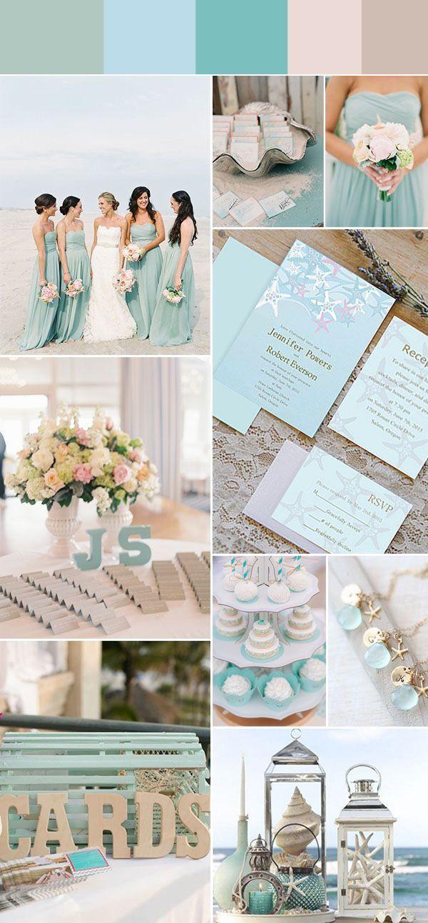 Azules claros, distintas tonalidades de un mismo color para tu boda. ¿Qué opinas? #BodasAzul