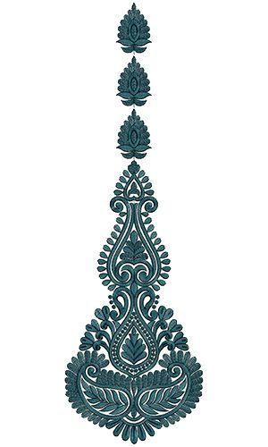9718 Anarkali Embroidery Design