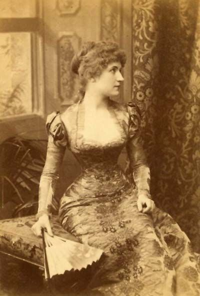 Pictured is burlesque artist Lydia Thompson, circa 1880s. Lydia is best known for introducing the art of burlesque to the American stage. She also was a lead performer in England, often showcasing her talents at the famous Folly Theatre in London. The theatre was demolished in 1865 and the site is now part of the Charging Cross Police Station.