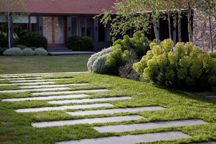 Rectangular garden stepping stone ideas pepper images for Small rectangular garden ideas