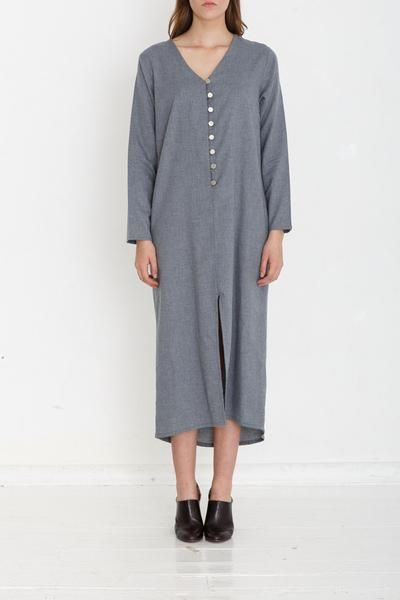 Yasmin Raquel MADE TO ORDER Straight Dress - Slate Women's Fashion , Natural fibers , Handmade Clothing.