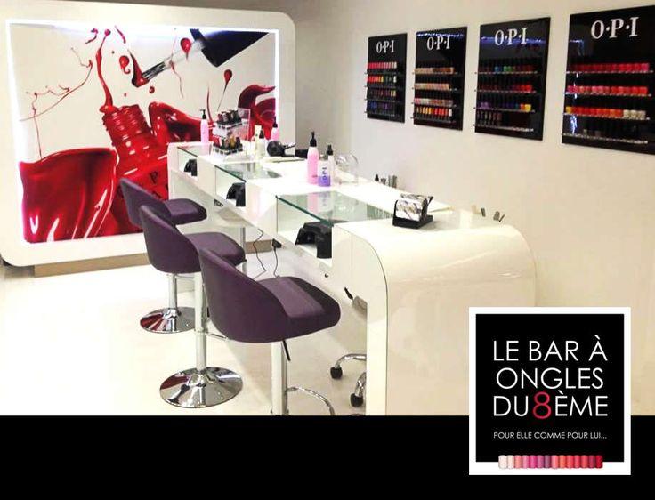 ✽ GRAPHISME ✽ Ouverture cette semaine du Bar à Ongles du 8ème à #Marseille. Création du logo, de l'enseigne, carte postale promotionnelle, page Facebook.