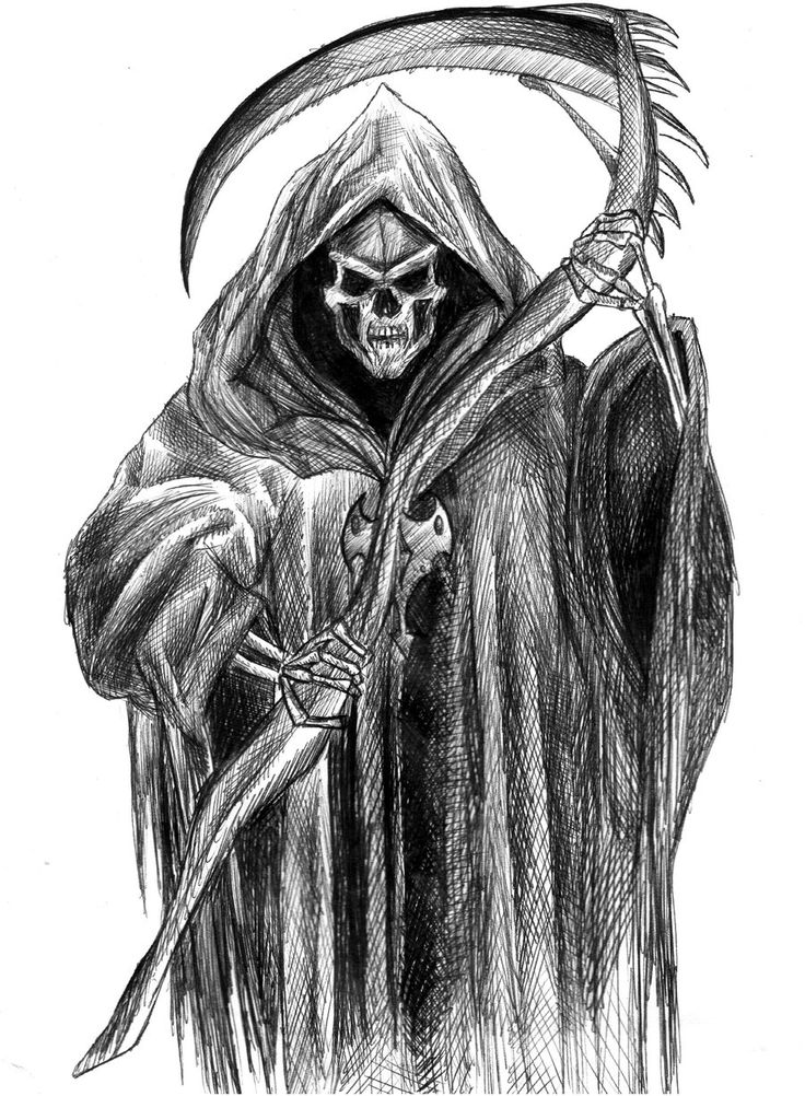 Scary Grim Reaper Drawings | grim reaper by twizzy3344 traditional art drawings macabre horror 2011 ...
