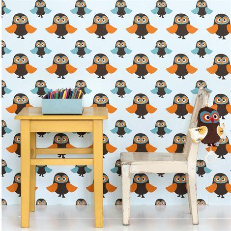 Owls wallpaper from Ferm Living