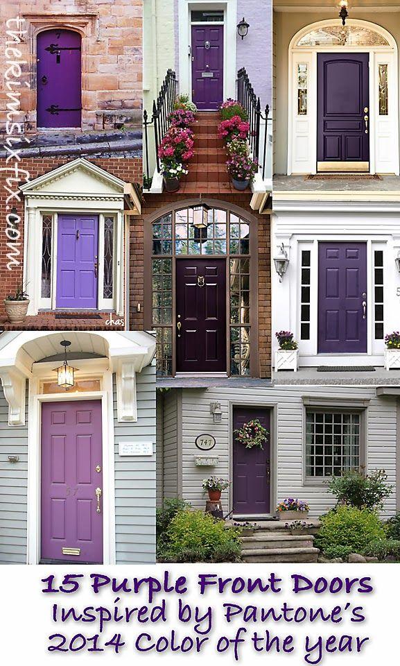 Color Trend 2014: Radiant Orchid (15 Beautiful Exterior Doors) - The Kim Six Fix