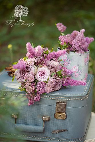 Pink flower arrangement ... ♥