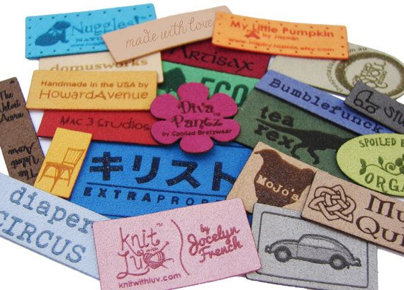 Personalized Knitting Labels With Holes for Easy by rememberwynn
