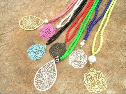 Rubber Pendant Necklace