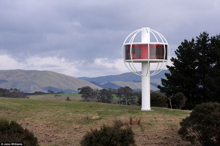 Known as the Skysphere, the solar-powered home offers a 360-degree view of the countryside and a number of slick features