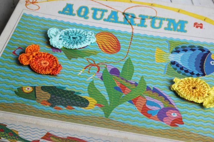 Oud vis spel uit Inhaken op vakantie