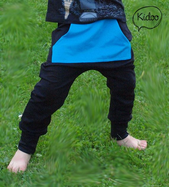 Growing harem drop crotch sweatpants