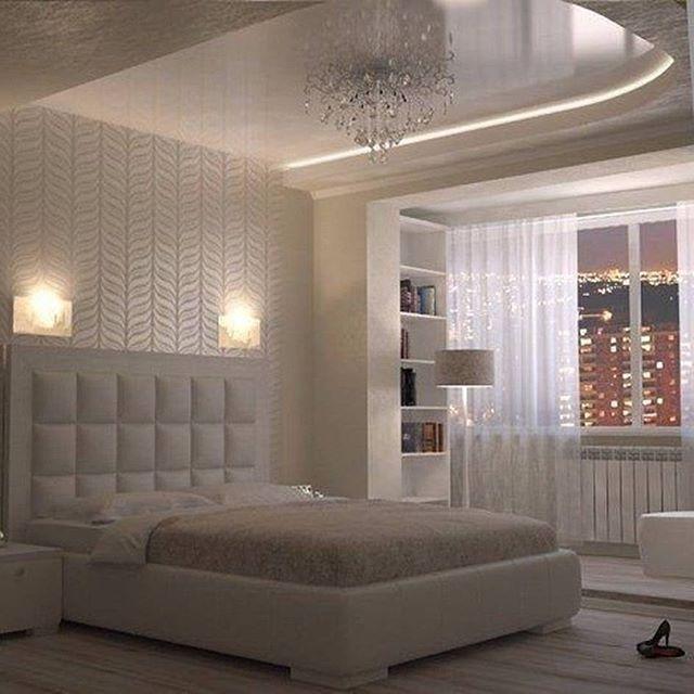 оформление спальни. зонирование