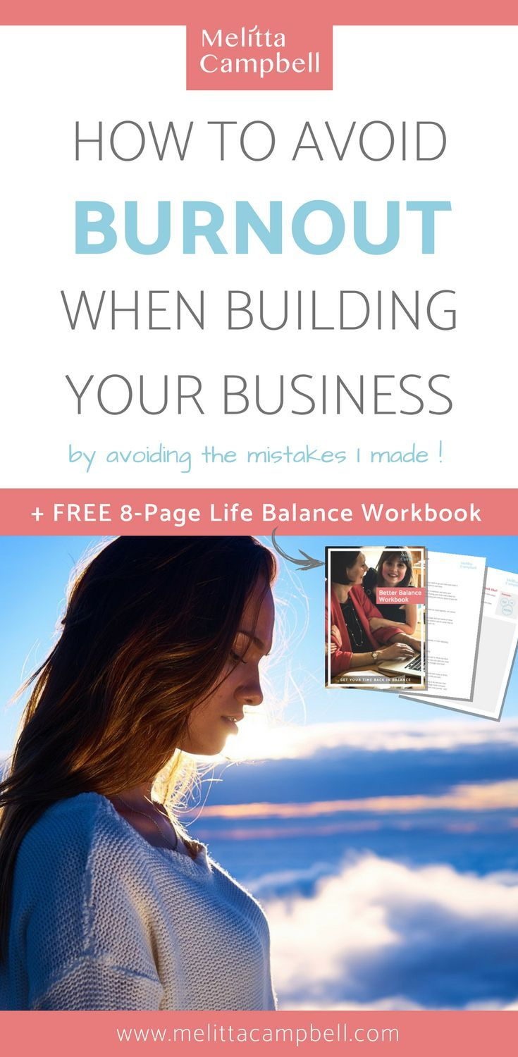 When building your business, avoid making the mistakes I made that took me to the brink of burnout. Learn from my story and complete the FREE 8-Page 'Find Your Ideal Balance' workbook.