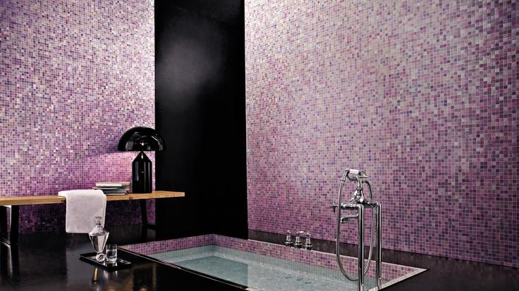 Bagno rosa Mosaico Bisazza