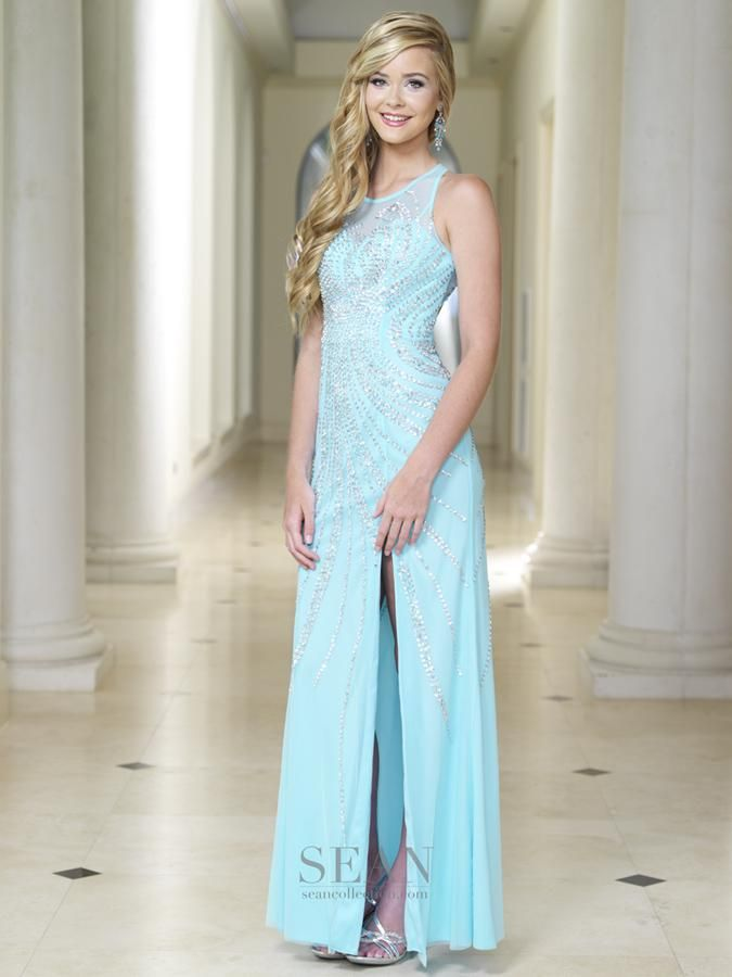 Sean Collection 50720 Sky Prom Dress