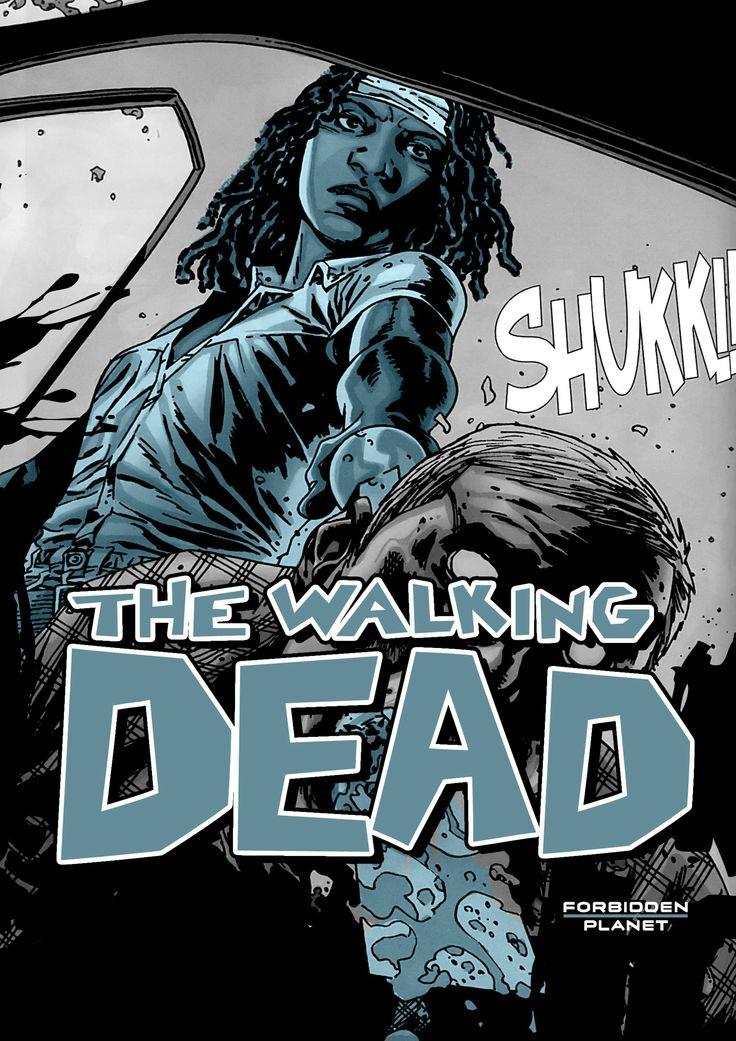 Walking Dead window display board for Forbidden Planet.