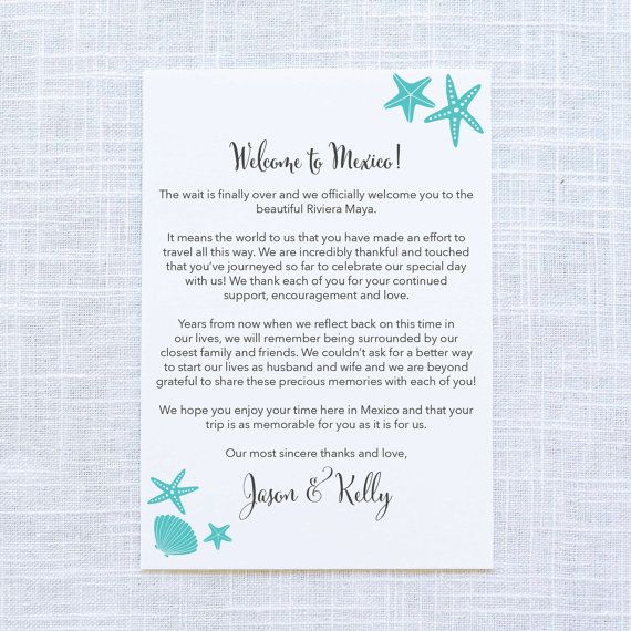 25+ Best Wedding Welcome Letters Ideas On Pinterest | Destination