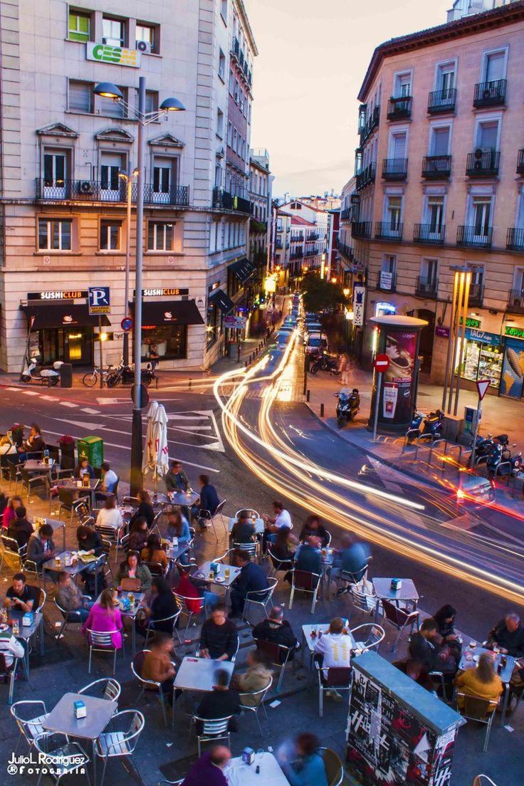 Street Cafe in Madrid, Spain
