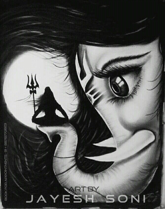 Lord shiva and ganesha Love Title - ganesha love. Size - A1 Art by - JAYESH SONI Hope you all like this