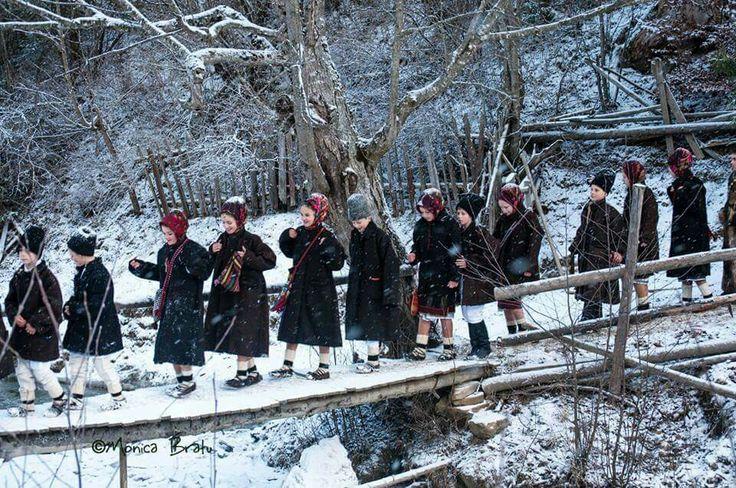 Christmas caroling thru the village, Bucovina, Romania, photo Monica Bratu