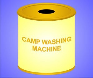 Camp washing machine (also would be good at home if you don't want to make a run to the laundromat or are trying to save money...)