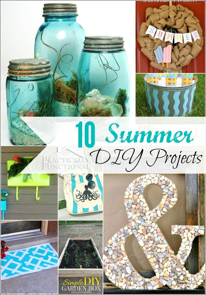 10 amazing summer DIY projects, perfect for celebrating the season!: 10 Amazing, Crafts Ideas, Diy Crafts, Diy Summer, Summer Projects, Summer Diy, Amazing Summer, 10 Summer, Diy Projects