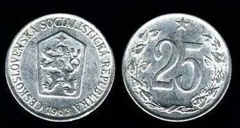 Mince - 25 haléřů