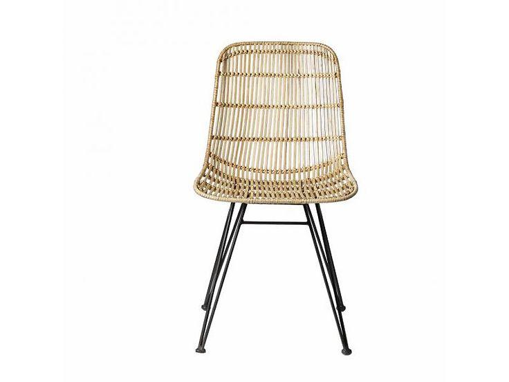 Bloomingville stoel rotan met metalen onderstel