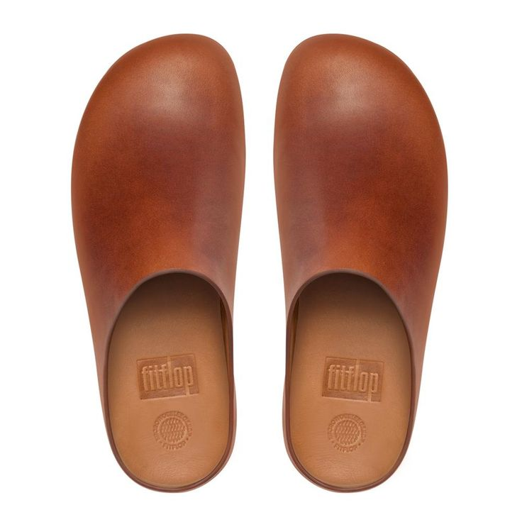 Shuv Leather Clogs, Dark Tan FitFlop US