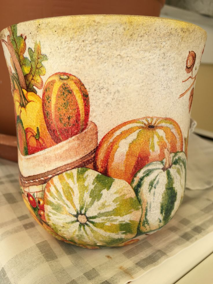 Vase with decoupage