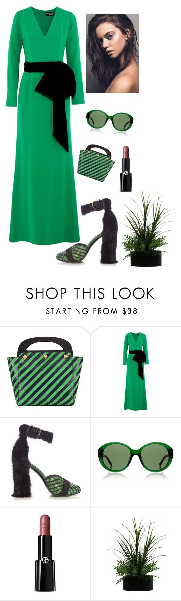 """""""Spring"""" by kotnourka ❤ liked on Polyvore featuring Tory Burch, NOIR Sachin + Babi, Salvatore Ferragamo, The Row and Giorgio Armani"""