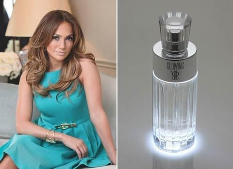 "J.Lo perfume  ""Glowing"".  The bottle actually glows when you spray.  I just got this for Christmas from my mom (2012)."