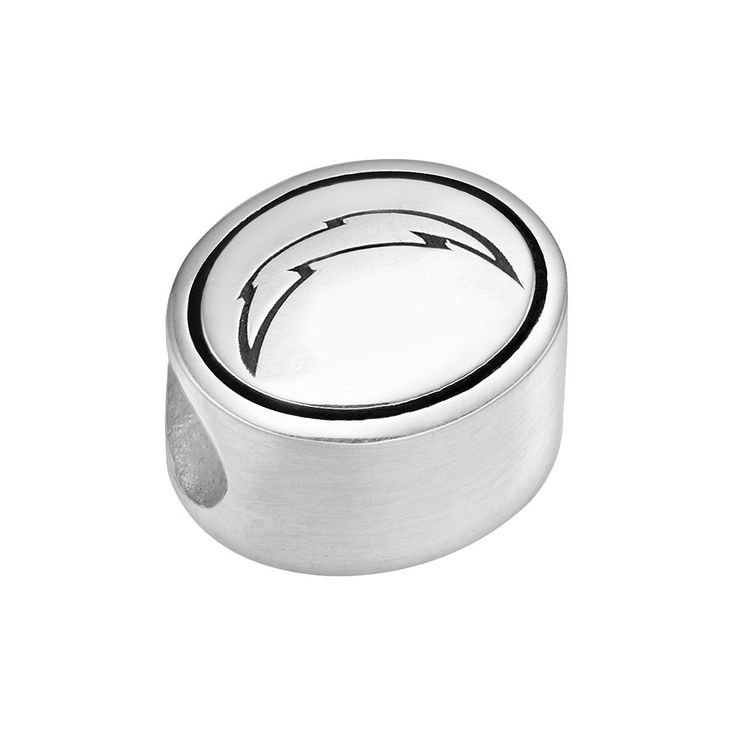 Sterling Silver San Diego Chargers Logo Bead, Grey