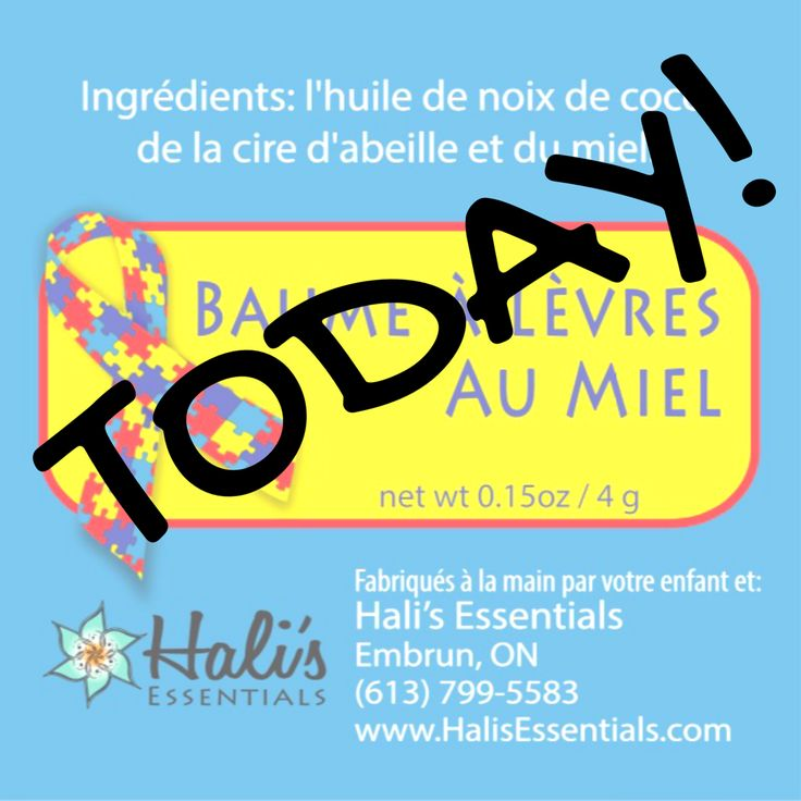 Today is the day!!! The day I make lip balm with the kids at @RegroupementAutismePrescottRusselldelasfoa in Hawkesbury! Yippee! #letsdothis