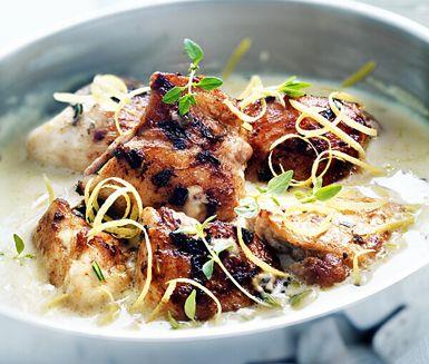 Recept: Senapskyckling med ris