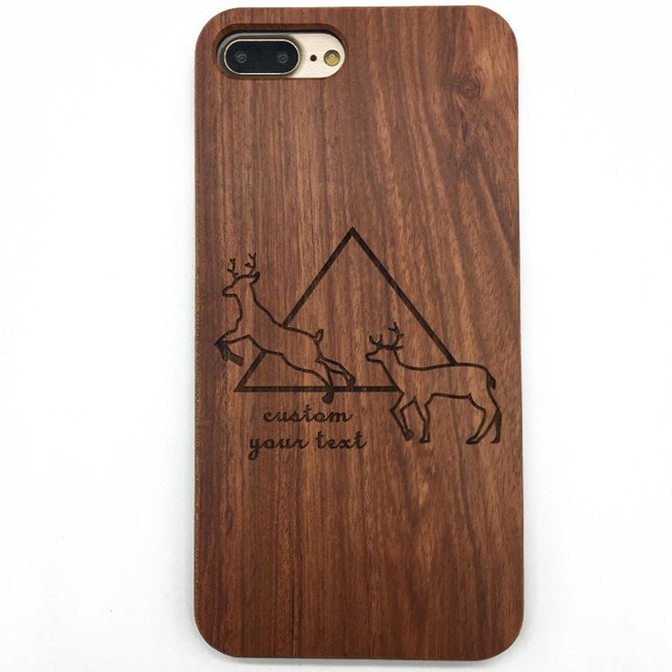 Wooden Deer Head Hipster Geometric Triangle iPhone Case&Samsung Galaxy   jiacase