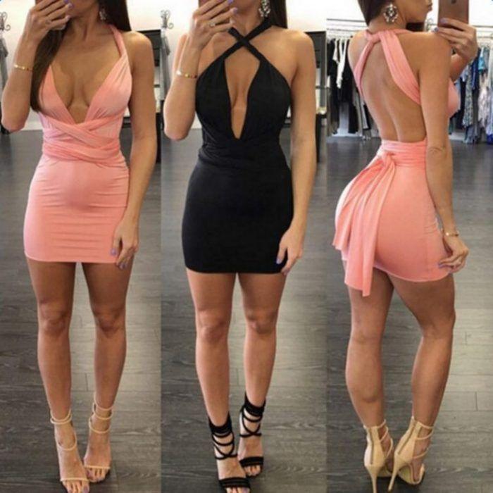Celebrity Inspired Multiway Mini Dress