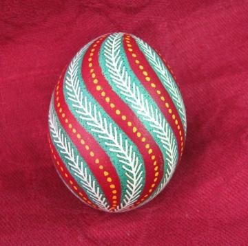 "handmade egg. Handpainted very nice ""PYSANK PISANKA"" TOP QUALITY EGGS by uniquegift for $8.00"