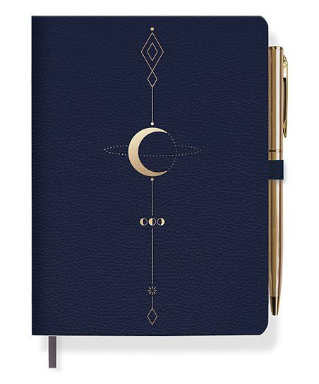 Fringe Marinha Studio & Goldtone Geometric lua Tattoo Journal & Pen | Zulily   – ink