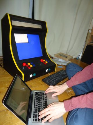 The 'Galactic Starcade' is a DIY retro bartop arcade cabinet for two players. It is powered by the Raspberry Pi micro-computer and plays multiple types of retro...