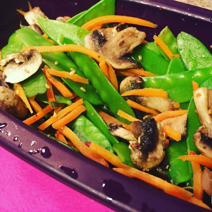 My favourite steamed veggie side: 1/2 cup grated carrots 1/2 cup mushrooms 1 cup…
