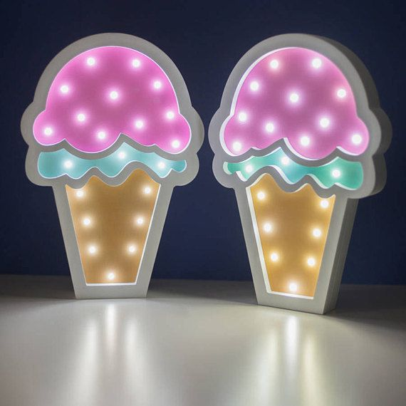 Night Light Ice Cream  Night Lamp Ice Cream  Lamp for Baby